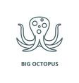 big octopus line icon linear concept vector image vector image