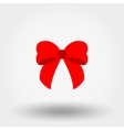 bow flat icon vector image vector image
