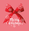 bow ribbon decoration of merry christmas vector image vector image