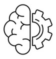 brain gear smart icon outline style vector image