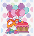 candy and desserts vector image