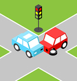 Car accident isometric vector image vector image