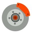 Car brake discs system vector image