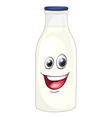 Cartoon Milk Bottle vector image vector image