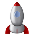 Cartoon stell rocket vector image