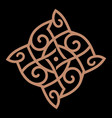 celtic scandinavian knot-work in vector image vector image
