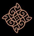 celtic scandinavian knot-work vector image vector image