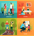 child nurse family design concept vector image