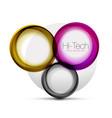 circle web layout - digital techno spheres - web vector image vector image