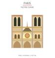 colorful paris landmark 1 vector image