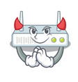 devil router isolated with in the mascot
