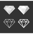 Diamond Icon And Emblem Set vector image vector image
