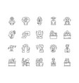 doubt line icons signs set outline vector image vector image