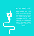 electricity with electric plug vector image