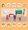 english grammar lesson school subject teacher vector image vector image