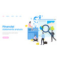 financial statement analysis peoples research vector image vector image