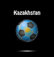 flag of kazakhstan in the form of a soccer ball vector image vector image