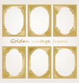 golden vintage frame vector image vector image
