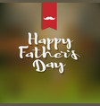 happy fathers day white handwritten lettering vector image
