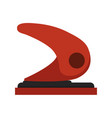 hole punch paper puncher icon office stationary vector image vector image