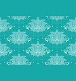 indian lotus flower seamless pattern vector image vector image