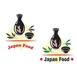 Japan food cuisine vector image vector image