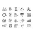 large set icons for a pension plan vector image