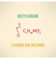 Learning and dreaming chemistry concept vector image vector image