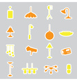 lighting stickers set eps10 vector image vector image