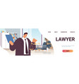 male lawyer or judge consult holding scales law vector image vector image