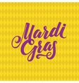Mardi Gras Logo Calligraphic Poster vector image vector image