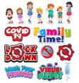 member family and coronavirus sign and symbol vector image