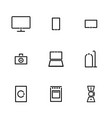 minimalistic icons for large and small household vector image