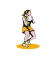 Netball Player Catching Ball vector image vector image