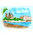 Notre Dame de Pari vector image vector image