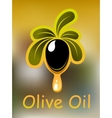 Olive oil poster or card design vector image