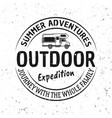 Outdoor adventure and travel vintage emblem