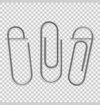 paperclip on paper silver notepapers fix clip vector image vector image