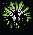 party and disco people photo tree vector image vector image