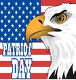 Patriot day card with the flag of unites states of vector image vector image
