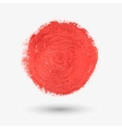 Red circle the texture of the watercolor chalk vector image vector image