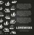 sailboats poster design vector image vector image