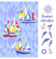 sea background with ships vector image vector image
