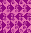 seamless checkered background with flowers thistle vector image vector image