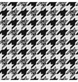 Seamless classic fabric houndstooth pied-de-poule vector image vector image