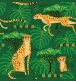 seamless pattern with cheetahs leopards in the vector image