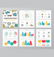 set of colored construction and repair elements vector image vector image