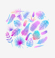 set tropical fern leaves vector image vector image