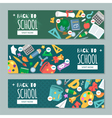 Set with banners on education theme for web site vector image