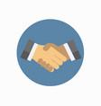 shake hand flat icon vector image